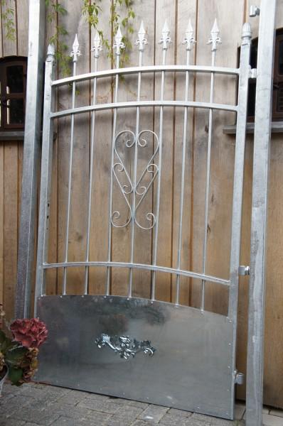 Gartentor Drehtor Einfahrtstor Tor Pforte mit Pfosten und Schloß