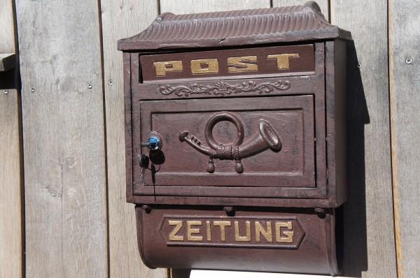 Wandbriefkasten Postkasten Briefkasten mit Zeitungsrolle