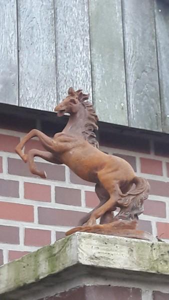 Gartenskulptur , Pferdebüste , Eisenpferd